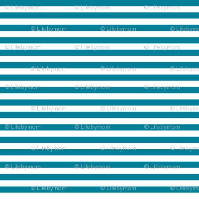 stripes ocean blue