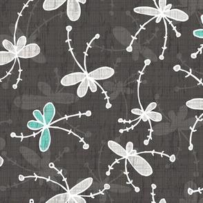 Flutter Flower-dark grey