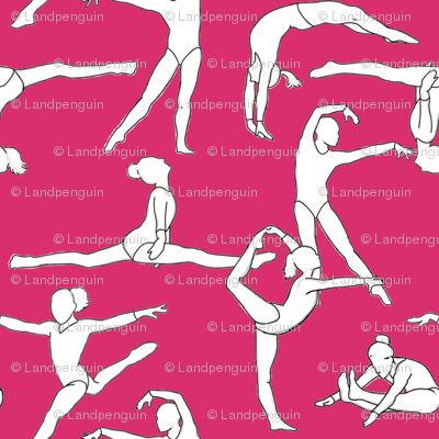 Gymnasts on Magenta