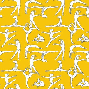 Gymnasts on Yellow