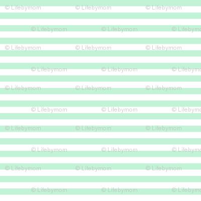 stripes mint green