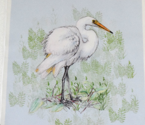 Great White Egret for Pillow
