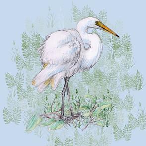 Great White Egret for Pillow