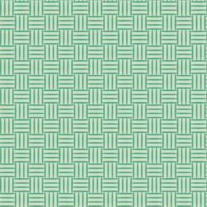 Teal Basketweave
