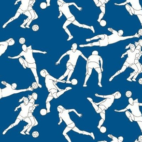 Soccer on Dark Blue