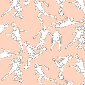 Women's Soccer on Pale Pink