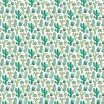 Cactus on White Tiny Small 0,5 Inch Tall