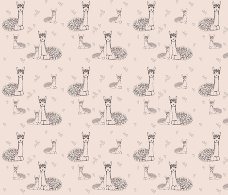 Llama Love fabric by mariah_girl on Spoonflower - custom fabric