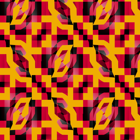 Digital Fire fabric by david_kent_collections on Spoonflower - custom fabric