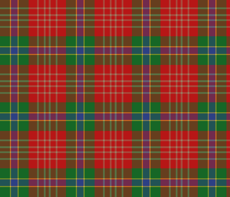 Indiana cardinal tartan, bright fabric by weavingmajor on Spoonflower - custom fabric