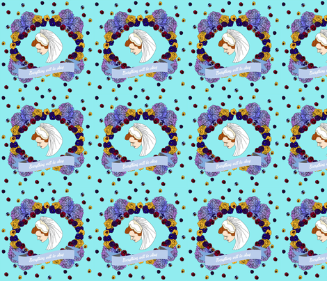 Mary Evelyn's Garden fabric by ladywave on Spoonflower - custom fabric