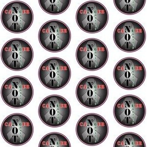 cancer not cooties Grey 1.5""