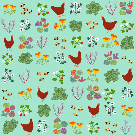 The garden of my dreams fabric by mongiesama on Spoonflower - custom fabric