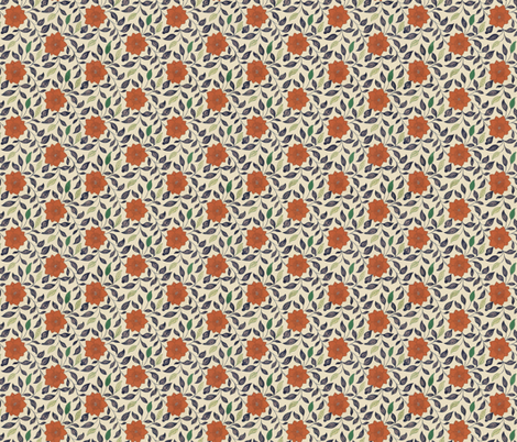 Chinese Chrysanthemums fabric by hollywood_royalty on Spoonflower - custom fabric