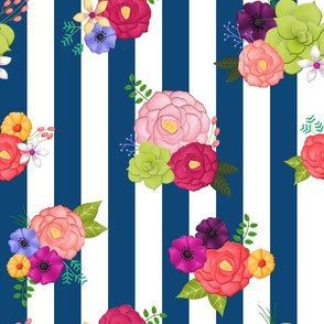 Wild & Quirky Striped Floral