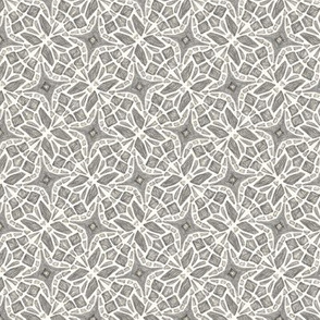 Abstract Butterfly Geometric Gray Small