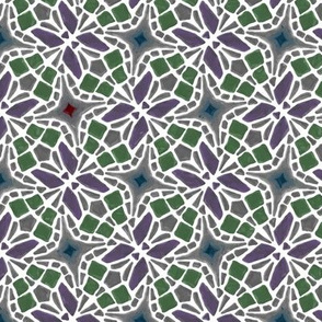 Abstract Butterfly Geometric Purple Green