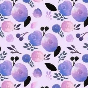Dreamer Floral  on Pale Purple