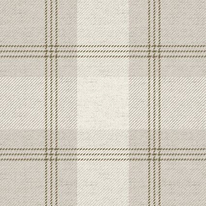 Light Tan Plaid on Fabric Texture