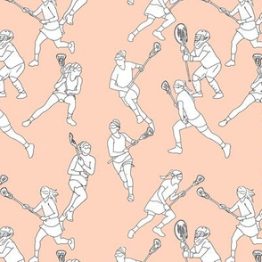 Lacrosse on Pale Pink