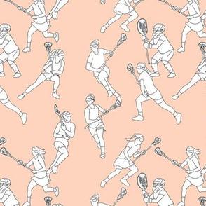 Lacrosse on Pale Pink
