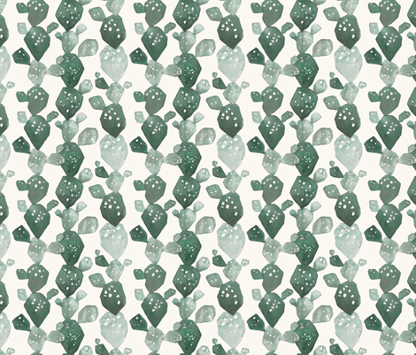 WATERCOLOR CACTUS fabric by hlively on Spoonflower - custom fabric
