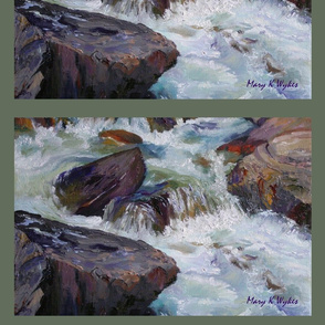 River Cascades Placemats, whitewater, rafting, rapids