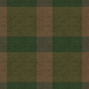 Green & Brown Plaid on Fabric Texture