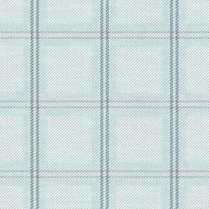 Light Blue Plaid on Fabric Texture
