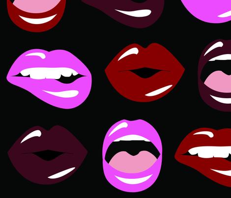 Luscious Lips fabric by kateyblaire on Spoonflower - custom fabric