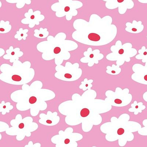 Sweet daisies in pink - Medium
