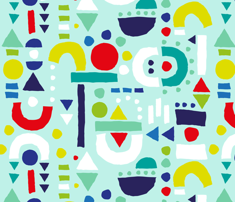 Tiny Inventor Dreams - Teal fabric by pinky_wittingslow on Spoonflower - custom fabric
