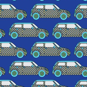 Mini Cooper Pineapples Blue_Miss Chiff Designs