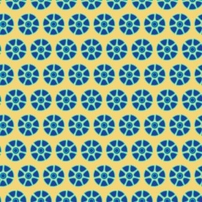 Tropical Blue Yellow  Spots Dots || Abstract Flower Floral_Miss Chiff Designs