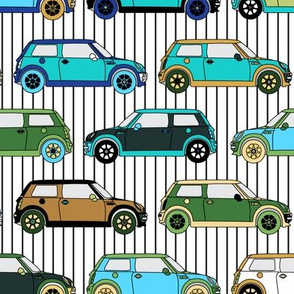 Cute colorful mini Car // Auto Automobile Transportation Hipster