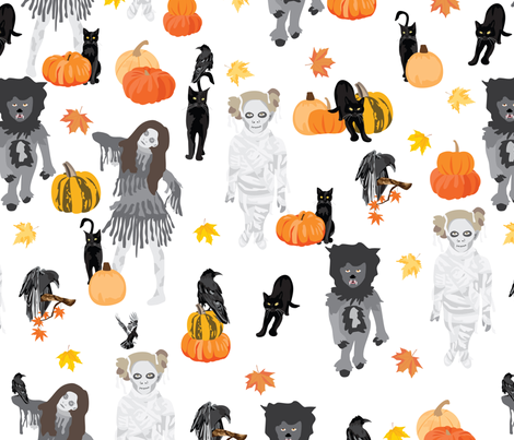 Monster mash fabric by vieiragirl on Spoonflower - custom fabric