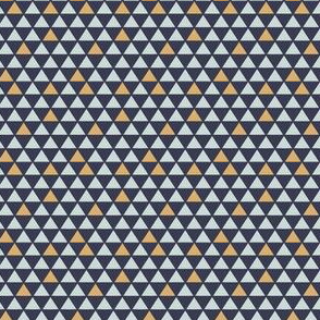 Modern Mini Mustard/Navy Triangles