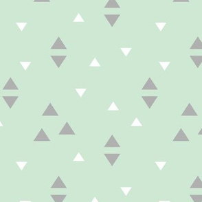 Tribal Mint and Grey Triangle Accent