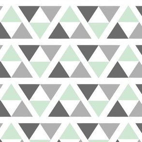 Tribal White and Grey Triangle Accent 2