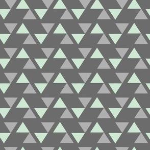 Tribal Grey Triangles