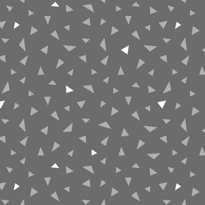 Tribal Triangle Accent Greys