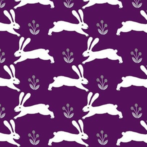 bunny rabbit // purple sweet little baby bunnies rabbits spring easter cute girly pastel purple rabbits