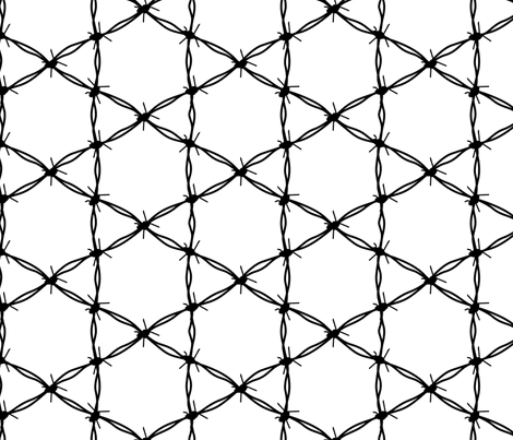 Barbed Wire Geometric fabric by mariafaithgarcia on Spoonflower - custom fabric