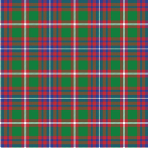 Utah centennial tartan, bright colors