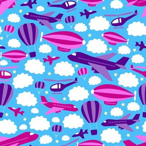 Fantastic Flying Machines (Purple and Pink)