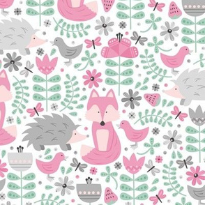 Fox Forest (Pink and Mint)