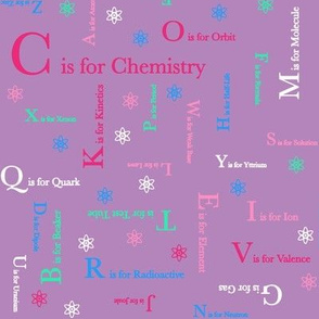 C is for Chemistry (pink and purple)