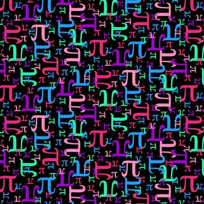 Pieces of Pi (Pinks and Purples Dark)