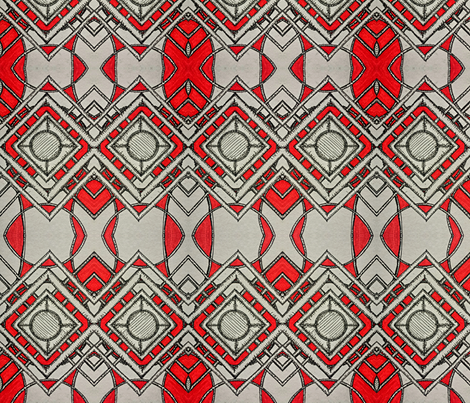 African Red Geometric fabric by jatudorose on Spoonflower - custom fabric