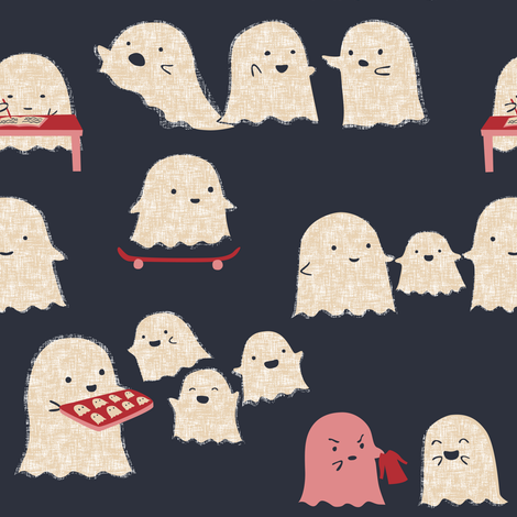 Ghost Town fabric by ceciliamok on Spoonflower - custom fabric
